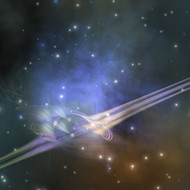 A Space Phenomenon Sends Out Rays Through The Cosmos