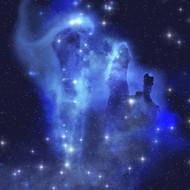 Brilliant Blues of a Star Making a Nebula Shine