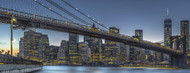 Privacy Screen: New York - Blue Hour Over Manhattan by Michael Jurek