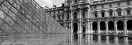 Extra Large Photo Board: The Louvre Pyramid BW - AMER