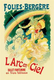 L'Arc en Ciel: Folies-Bergere by Jules Cheret