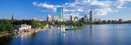 Extra Large Photo Board: Boston Waterfront with Sailboats - AMER
