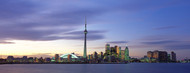 Standard Photo Board: Toronto Skyline with Clouds at Dusk - AMER