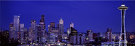 Extra Large Photo Board: Skyscrapers at Night Seattle - AMER