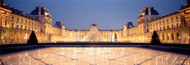 Extra Large Photo Board: The Louvre Pyramid Illuminated Paris - AMER