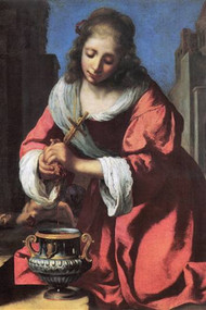 Saint Praxedis by Vermeer