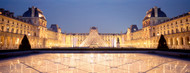 Standard Photo Board: The Louvre Pyramid Illuminated Paris - AMER