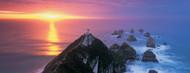 Standard Photo Board: Sunset Nugget Point Lighthouse New Zealand - AMER
