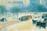 Winter in Union Square by Hassam