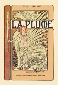 La Plume 1897 by Alphonse Mucha