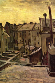 Backyards of Old Houses Antwerp in the Snow by Van Gogh