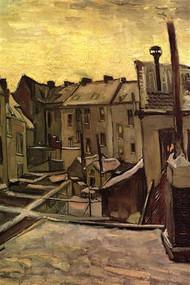 Backyards of Old Houses Antwerp in the Snow by Van Gogh