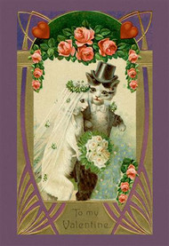 Kitty Bride And Groom