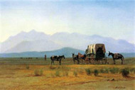 Stagecoach in the Rockies