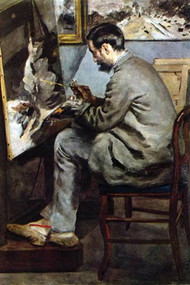 The Painter in The Studio Of Bazille by Renoir