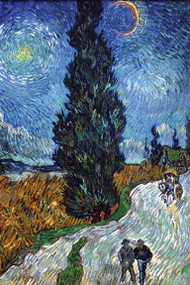 Country Road in Provence at Night by Vincent Van Gogh