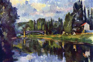 Marne Shore by Cezanne