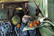 Still Life with Eggplant by Paul Cezanne