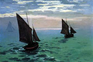 Le Havre Exit The Fishing Boats From The Port by Monet
