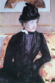 Young Woman in Black by Mary Cassatt