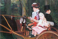 In The Wagon by Mary Cassatt