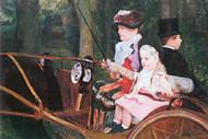 In The Wagon by Mary Cassatt