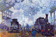 Saint Lazare Station Paris, Arrival Of A Train by Monet