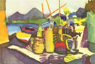 Landscape at Hammamet by Macke