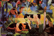 Landscape with Cows and Camels by Macke