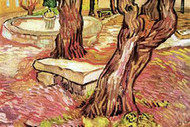 Stone Bench in Garden of St Paul Hospital by Van Gogh