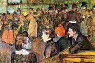 At the Moulin de la Gallette by Toulouse-Lautrec