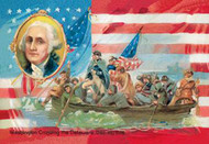 Washington Crossing the Delaware with Portrait Inset