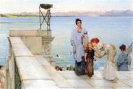 Kiss by Alma-Tadema by Alma-Tadema
