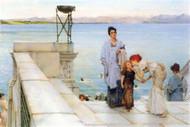 Kiss by Alma-Tadema by Alma-Tadema
