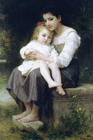 Big Sis by Bouguereau