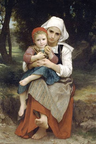 Breton Brother and Sister by Bouguereau