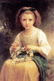 Child Braiding A Crown by Bouguereau