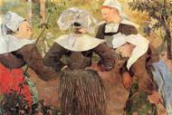 Dance of 4 Women of Breton by Paul Gauguin