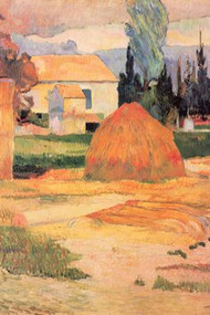 Farmhouses in Arles by Gauguin
