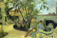 Garden in Rue Carcel by Gauguin