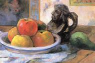 Still Life with Apples Pears and Krag by Paul Gauguin