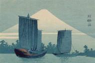 Sailboats and Mount Fuji