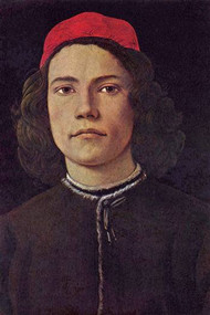 Portrait Of A Young Man With Red Cap Botticelli