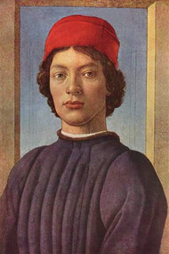 Portrait Of A Young Man With Red Cap - Botticelli