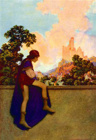 Knave Watching Violetta Depart by Maxfield Parrish