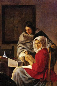 Girl interrupted in Her Music by Vermeer