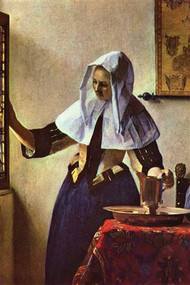Young Woman with a Water Jug at the Window by Vermeer