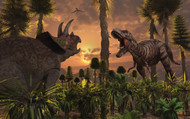 Tyrannosaurus Rex And Triceratops Meet For A Battle To The Death III