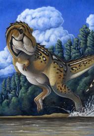 Tyrannosaurus Rex Running Through Water