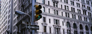 Green Traffic Light on Wall Street